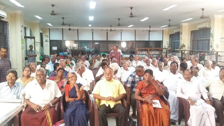 Dr.S.Ramasamy delivered the talk on EECP and its benefits.