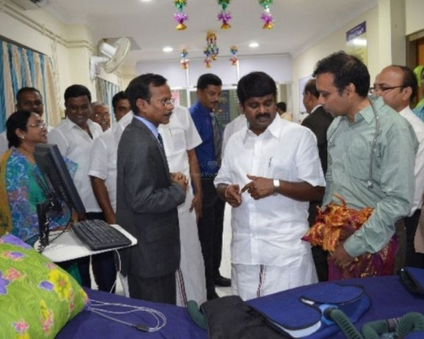 government vellore medical college hospital eecp inauguration