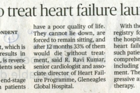 vaso meditech pvt ltd and gleneagles global hospitals launch india's first ever 'advanced heart failure treatment program' news clips